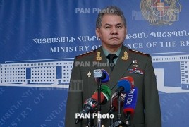 Russian Defense chief thanks Armenia for Syria humanitarian aid