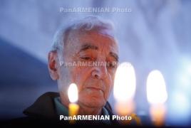 Президент Армении присутствовал на концерте памяти Азнавура в Париже
