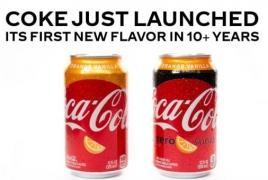 Coca-Cola unveils Orange Vanilla Coke flavor