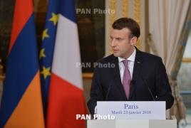France's Macron announces Armenia visit