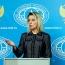 Захарова: МИД РФ - не соорганизатор участия российских депутатов в антиармянском марше в Баку