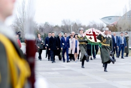 Georgian President honors memory of Armenian Genocide victims