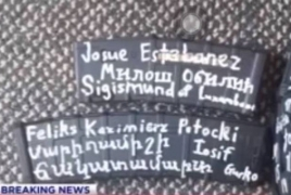New Zealand shooter's rifle features a note in Armenian