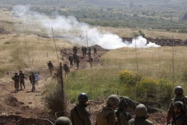 "Syria says will recover Golan Heights ""through all available means"""