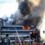 Firefighters battle massive fire at Baku shopping mall
