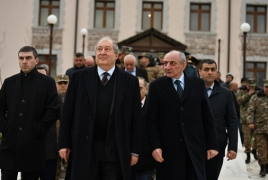 Armenian, Artsakh Presidents visit Talish