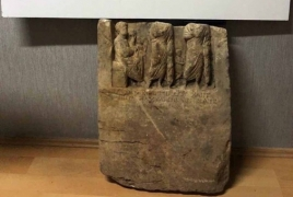 Turkey police recover ancient Armenian king's tombstone