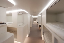 Sleeping in airplane's windowless cargo cabin could be thing soon