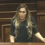 Trans woman delivers remarks in Armenia parliament
