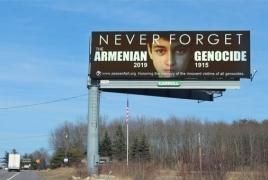 Armenian Genocide commemorative billboards installed in Massachusetts