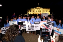 Armenians stage rally in front of White House, demand justice