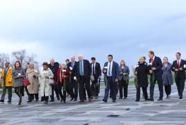 Members of U.S. Congress visit Armenian Genocide memorial