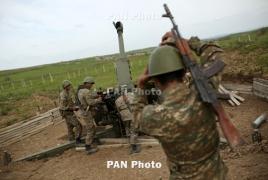 Հրետանային ստորաբաժանումները մարտական տագնապով դուրս են բերվել զորավարժարան