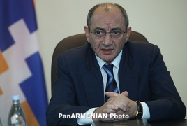 Artsakh President thanks Armenians' friends for support after Genocide