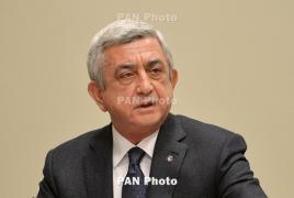 Armenia ex-President spotted at Genocide memorial in Yerevan