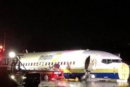Boeing 737 goes off the runway, falls into river in Florida