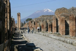 Romans melted iron to repair streets before Vesuvius erupted