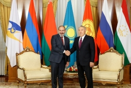Nazarbayev to Pashinyan: there were never any issues between Kazakhstan and Armenia
