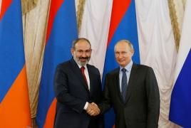 Putin hails Armenia-Russia relations as