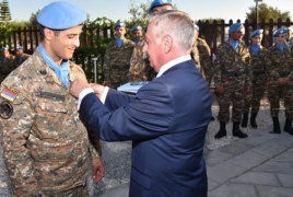 Two female Armenian soldiers join UNIFIL