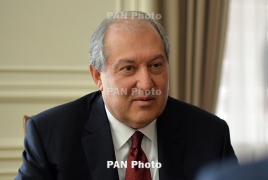 Armenia's Sarkissian congratulates Putin on Russia's Day