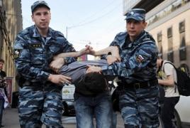 На акции протеста в Москве задержали более 400 человек