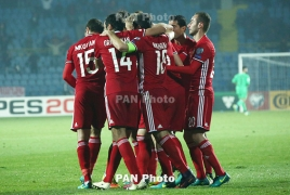 Armenia climb nine notches in latest FIFA ranking