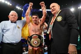 Боксер Артем Далакян в третий раз защитил титул чемпиона мира по версии WBA