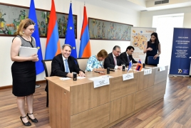 Postcard dedicated to Council of Europe cancelled in Armenia