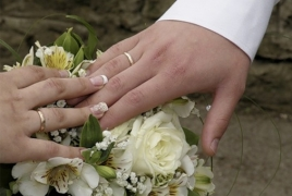 Marriage rate grows, divorce rate drops in Armenia
