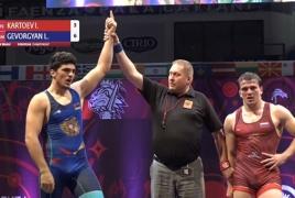 Armenian wrestler snatches gold at Cadet European Championship