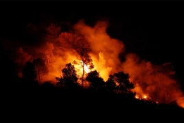 Spain battling massive wildfire amid scorching heat wave