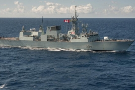 Canadian warship gets