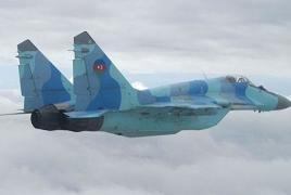 Azerbaijani Air Force plane crashes into Caspian Sea