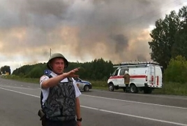 Explosion at Russian military depot sparks massive evacuation
