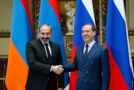 Armenian, Russia PM hold meeting in Kyrgyzstan