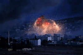 Russian Air Force launches massive attack on Syria's Kabani