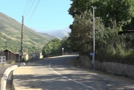 One more village in rural Armenia getting LED street lighting system