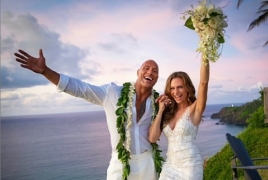 Дуэйн Джонсон женился на певице с армянскими корнями