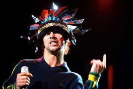 Jamiroquai giving a concert in Armenia on November 6