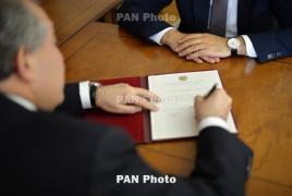 Президент Армении подписал указ об увольнении начальника полиции