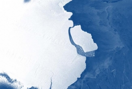 Vast iceberg measuring 1636 km2 breaks off in Antarctica