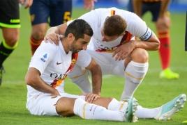 Henrikh Mkhitaryan out for six weeks due to injury