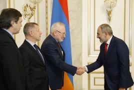 Armenia PM, OSCE envoys talk Karabakh settlement in Yerevan