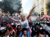 Lebanese protesters sing
