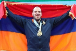 Armenian weightlifter sets world record, takes gold