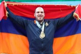 Армянский тяжелоатлет Акоп Мкртчян установил рекорд и стал чемпионом Европы