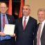 U.S. Congressmen hand copy of Armenian Genocide bill to Artsakh FM