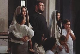 Kim and Kourtney Kardashian talk trip, baptism in Armenia