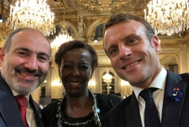 Armenia PM begins Paris visit with Champs Élysées reception